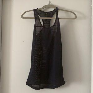 mesh black workout tank top